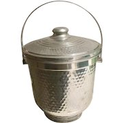 Vintage Nasco Hammered Ice Bucket, Italy 1950