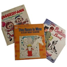 Tell-A-Tale This Room is Mine, The Bedtime Book, Raggedy-Ann Set of 3, 1960's, 1970's