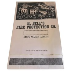 Clearance!  H. Bell's Fire Protection Co. Vintage Book Match Album