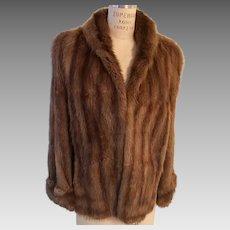 Marvelous Natural Mink Cape/Opera Jacket Vintage J L Hudson Company, Detroit