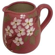 Lovatt's Langley Ware Stoneware  Small Pitcher England Cherry Blossom Lead Free Glaze