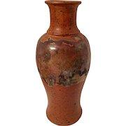 Signed Salt & Drip Glaze combination Vase, 1984