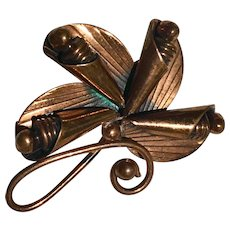 Bell Trading Company Copper Brooch/Pin Mid Century 1961 - 1972
