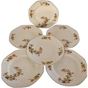 Homer Laughlin Yellowstone HLC375   5 Dinner & 1 Salad Plate Vintage