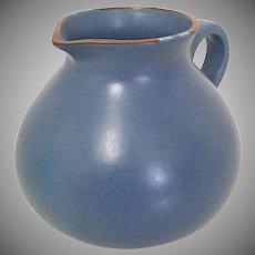 """Dansk Mesa Sky-Blue 48oz Water Pitcher, Portugal, 1990's Vintage """"New"""""""