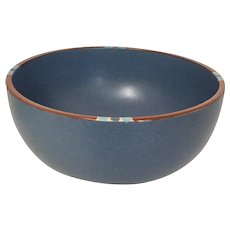 "Dansk Mesa Sky-Blue 10"" Serving/Mixing Bowl, Portugal, 1990's"