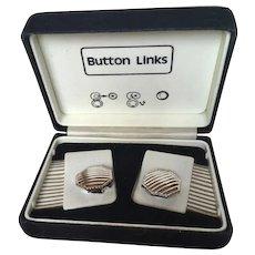 Vintage Men's Button Links in Original Box