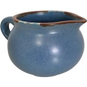 Dansk Mesa Sky-Blue Cream Pitcher with Saucer