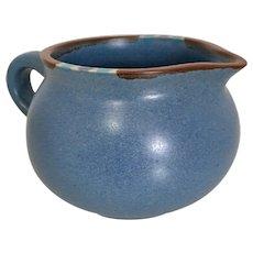 Dansk Mesa Sky-Blue Cream Pitcher with Saucer