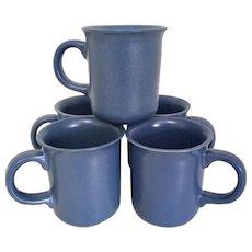 Dansk Mesa Sky-Blue Set of Solid Blue Coffee Mugs, Portugal