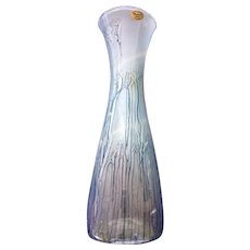 Art Glass Maskarot Juda Hand Painted Drip Vase, Israel