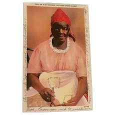 Black Americana Vintage Postcard Entitled An Old Fashioned Southern Negro Mammy