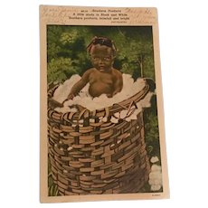 Vintage Black Americana Postcard from Southern Products Sent in 1944