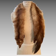 Vintage Natural Gold Fox Stole, 1950's