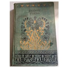 Favorite Poems from English and American Authors, Antique Book, Homewood Publishing, 1900's