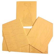 Gwen Frostic Woodblock Vintage Stationary Set in original folder