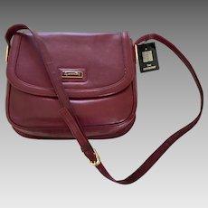 Sac Givenchy Authentic Vintage Burgundy Leather Shoulder Bag