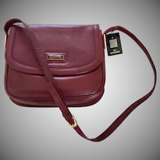 Sac Givenchy Authentic Vintage Burgundy Leather Shoulder Bag