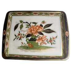 Vintage Daher Decorated Tin Tray with Floral Design made in England