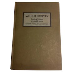 World Survey Foreign Volume A Statistical Mirror Interchurch Press 1920