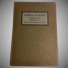 World Survey Foreign Volume A Statistical Mirror Interchurch Press 1920