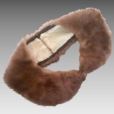 Natural Mink Vintage Rounded Collar