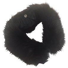 Dyed Black Vintage Fox Fur Collar 1950's