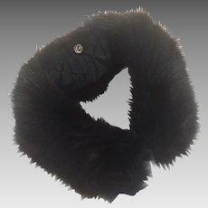Dyed Black Vintage Fox Fur Collar 1950's