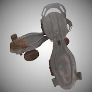Vintage Strap On Early 20th Century Metal Roller Skates