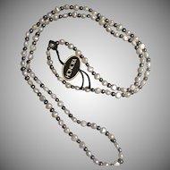 Honora Freshwater White and  Grey Pearl Necklace in Original Black Velvet Box