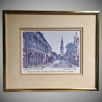 Offset Lithograph by Jean Claude de Montfort, Hand Signed in Pencil