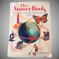The Answer Book by Mary Elting, 1976 - Complete Answers to 300 Questions Children Ask