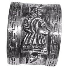 Peruvian Folk Symbol 900 Silver Napkin Ring