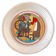 Wedgwood Children's Story Rumplestiltskin Plate 1977 Brothers Grimm