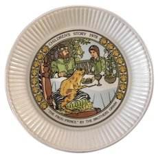 Wedgwood Children's Story Plate Frog Prince 1978 The Brothers Grimm