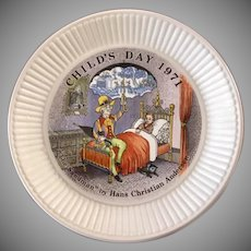 "Wedgwood Child's Day ""The Sandman"" 1971 Decorator Plate"
