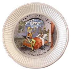 "Wedgwood Child's Day ""The Sandman"" 1971 Decorator Plate"