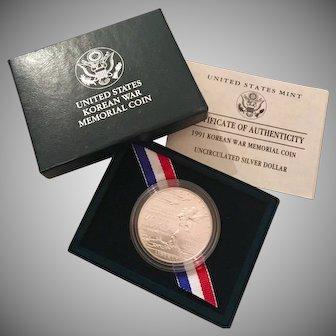 United States Korean War Coin Sterling Dollar, Denver Mint