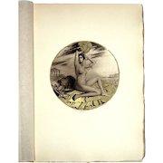 William Ablett: Aquatint Signed in Pencil. 1921, Paris, Devambez À l'enseigne du Masque d'Or