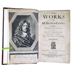 The Works of Mr. Abraham Cowley: The Sixth Edition. 1680 London