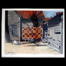 Bob Timberlake: Quilts. 1981, Two Signed Lithographs