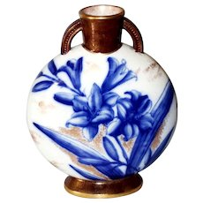 Cobalt Lily Vase 1880s by William Alsager Adderley & Co. Staffordshire, England