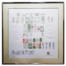 Hoi Lebadang: La Comedie Humaine, 1981. Lithograph & Embossing on Chamois Paper