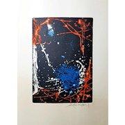Tetsuo Araki (Japanese, 1937-1984): Aquatint Etching. 1968, Signed in Pencil