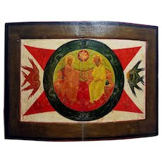 Antique Russian Icon of the New Testament Trinity