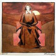 Konstantin Chebotarev: Untitled (Female). 1919, Watercolor