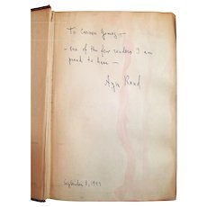 Ayn Rand: The Fountainhead, First Edition, Inscribed, Signed & Dated on September 8, 1943