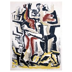 Ossip Zadkine: Les Rois Mages, 1953 Signed Color Lithograph on Velin Arches