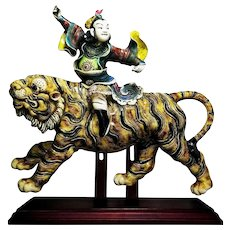 Lin Guang Yi: Taiwanese Koji Cochin Galzed Finial Sculpture