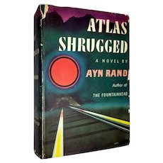 Ayn Rand: Atlas Shrugged, First Edition & Printing. 1957 NY Random House